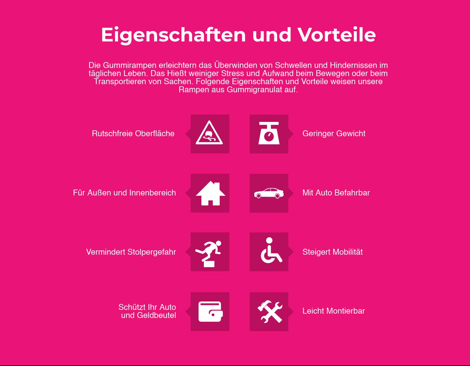 Eigenschaften: Rutschfrei, Mit Auto Befahrbar